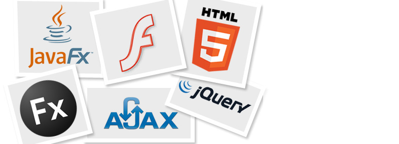 Picture with the logos of the most widely-adopted web technologies out there.