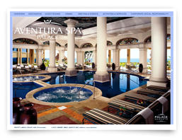 A brochure for the Aventura Spa hotel
