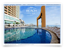 A sunny web design for a hotel