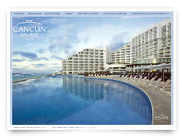 A brochure for the Hard Rock Hotel Cancun