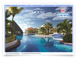 We created this web design for Moon Palace Golf Spa Resort.