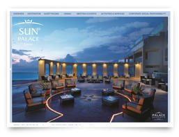 A web design for a hotel