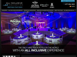 We designed All Inclusive Collection website.