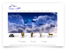 Webdise design for Animated Family Films