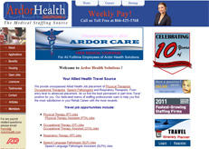 Ardor health Solutions former web design.