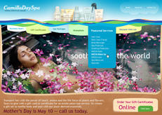 Camilla Spa web design. They are not online any more.
