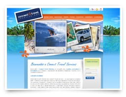 A web design service for Connect Travel Services, in Dominican Republic