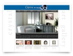 Crystal art gallery web design