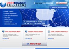 Web design for Debt Branch Solutions, a former client.