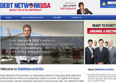 We designed the site of DebtNetworkUSA.com