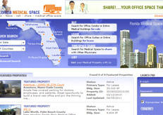 Here, Florida Medical Space's website by Intechcenter web design team