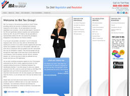 We designed IBA Tax practice website.