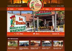Here, the design of La Bamba 123, a Mexican restaurant