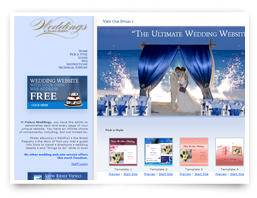A wedding website for a former client.