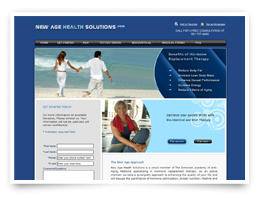 Web design for New Age Health Solutions