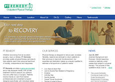 Our web design for a therapist client.