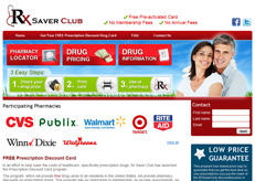 Our website design for RX saver club.