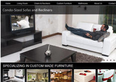 Sterns furniture got a new website thanks to our services.