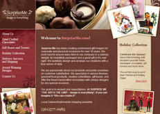 A web design for Surprise me. We can surprise you too with our designs.
