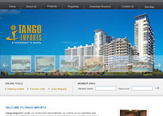 Web design for Tango Imports, a former client.